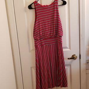 Loft XS Dress in Red & White